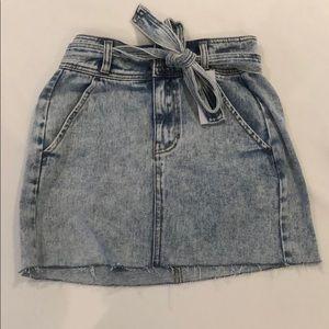 PacSun denim skirt with tie